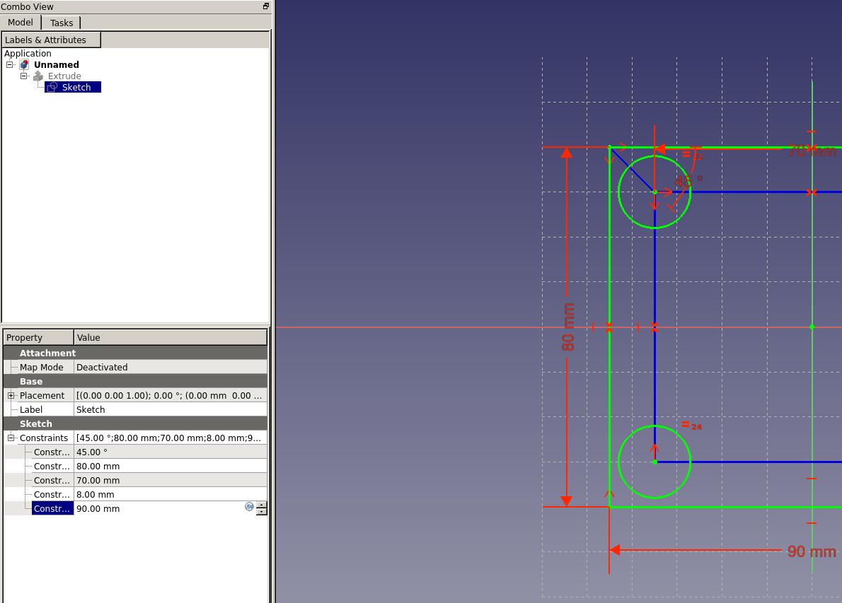 Freecad Sketcher Construction Mode