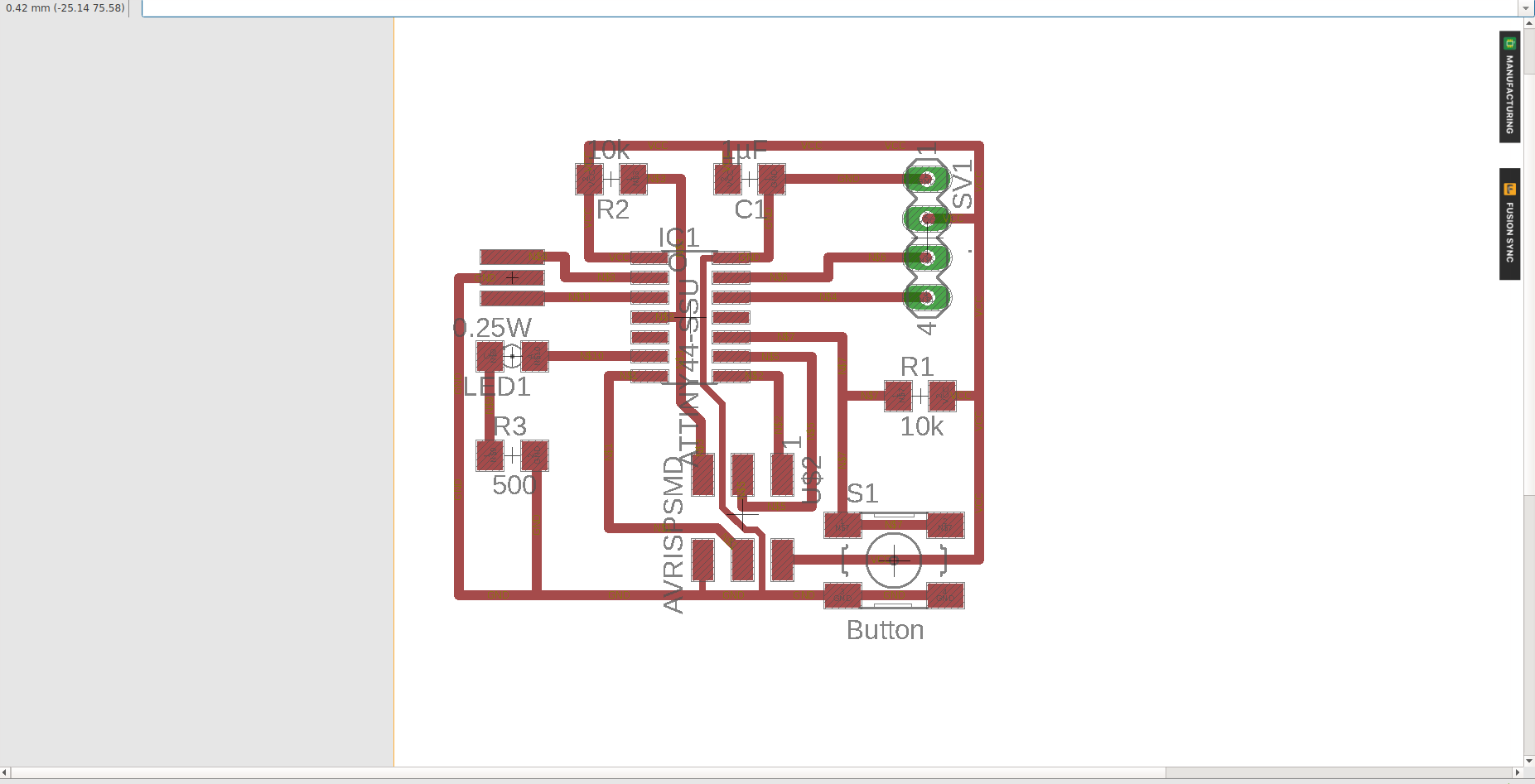 Fab Academy 2018 For Pcb Design Including Schematic Capture Board Layout And Autorouter View Final Version