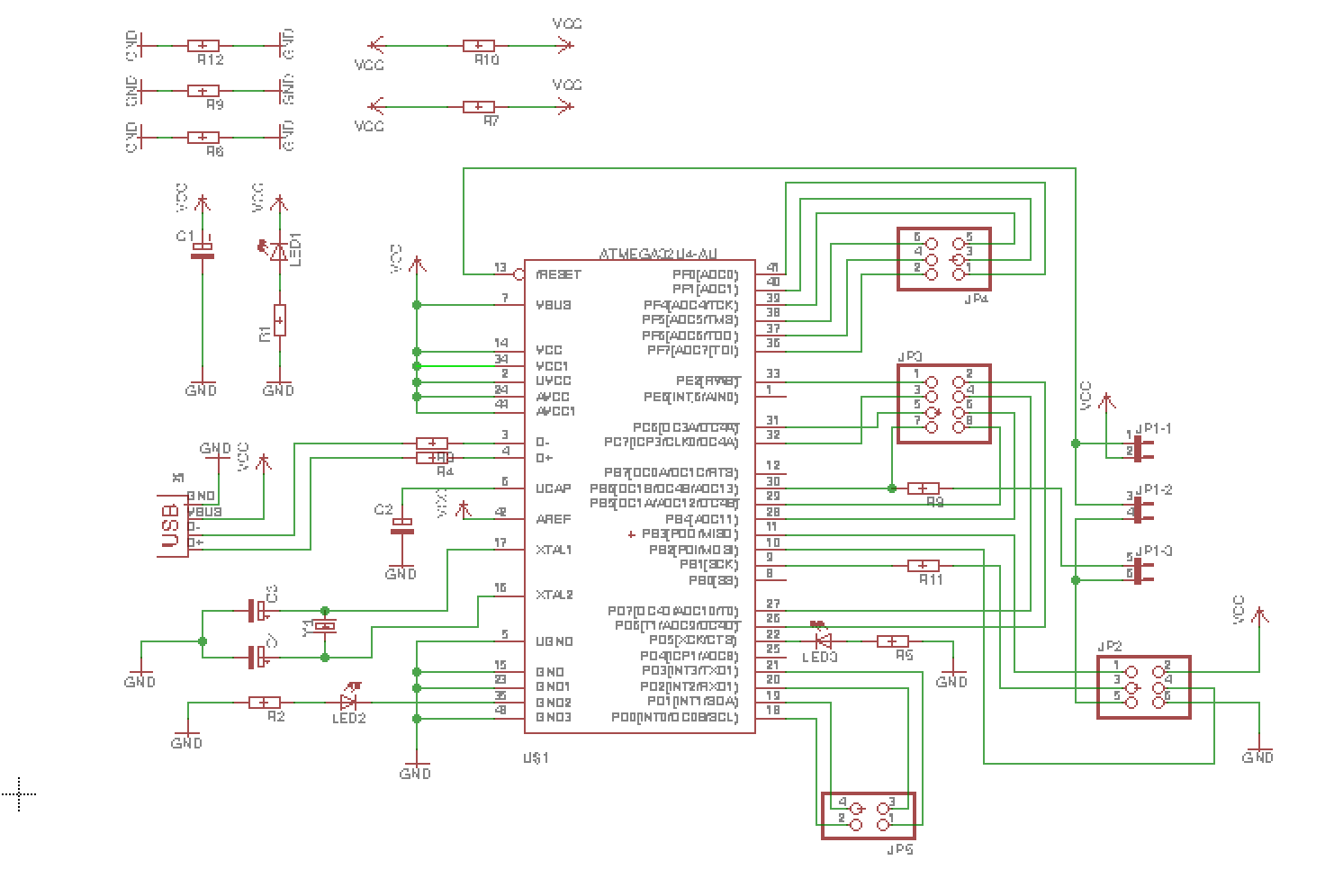 Fabacademy Voltdividercircuitdiagramgif 3190 Bytes The First Thing I Did Was To Create Circuit Diagram In Eagel
