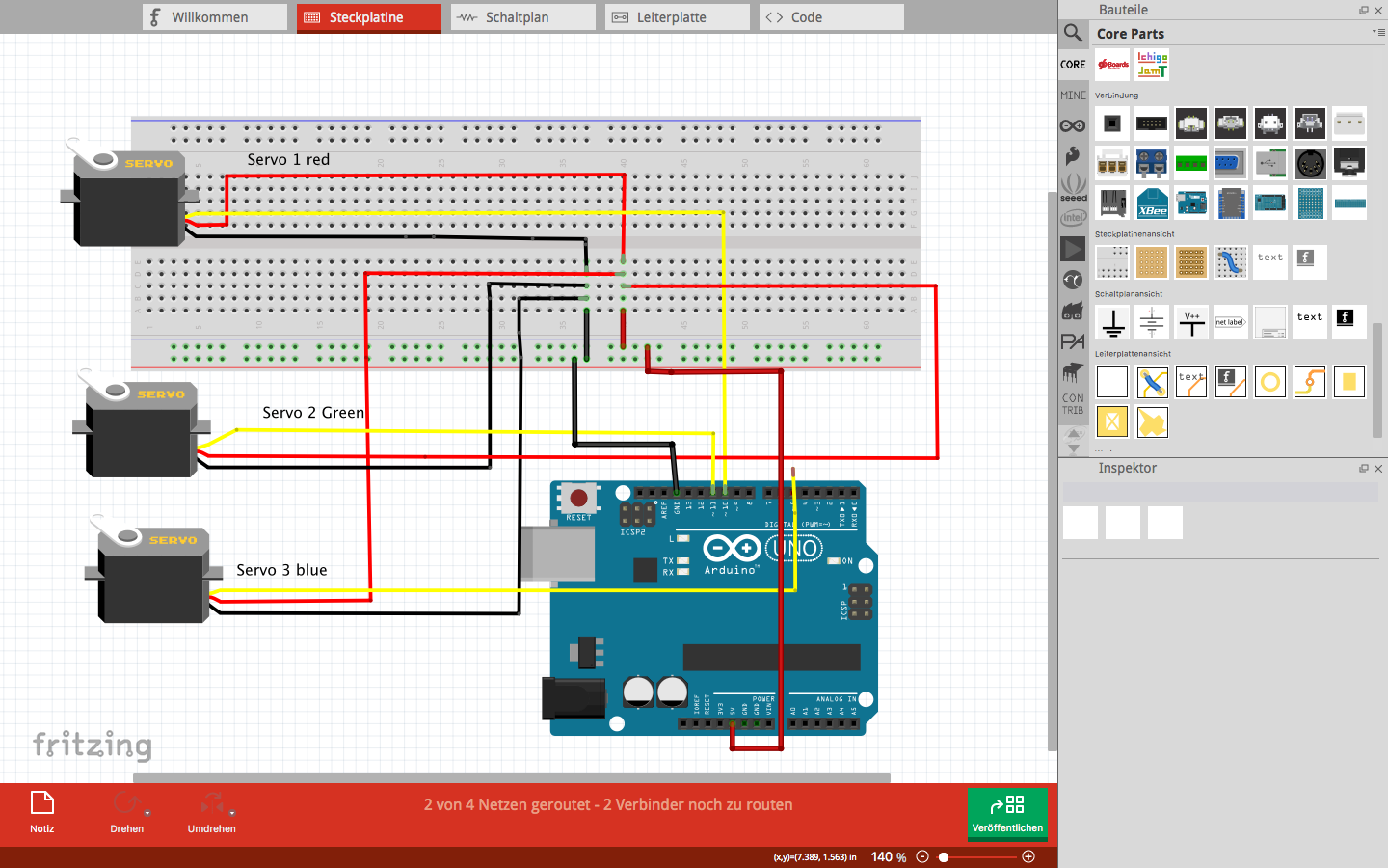 Tanjafab Academy 2018 Week 11 Servo Motor Wiring This Is How The Of Breadbord Looked Like For My Connection Pins On Arduino Board Are Not Same As I Used