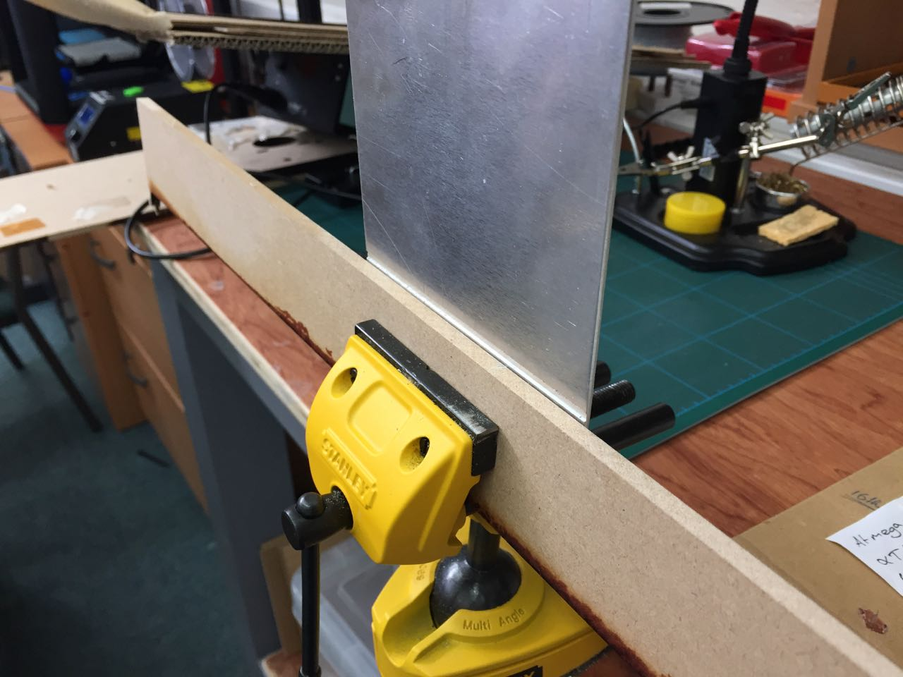 Clamping for folding