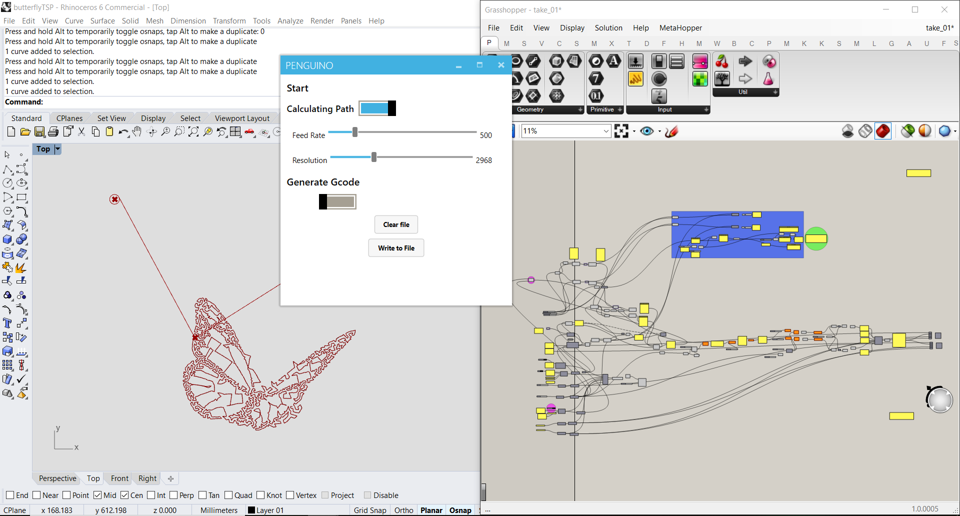 Paul Nichols Grasshopper Wiring Diagram During Output Devices Week I Controlled An Arduino Using Just Code No Libraries Gcode Reader Can See Daniele Ingrasia Has Used Grbl