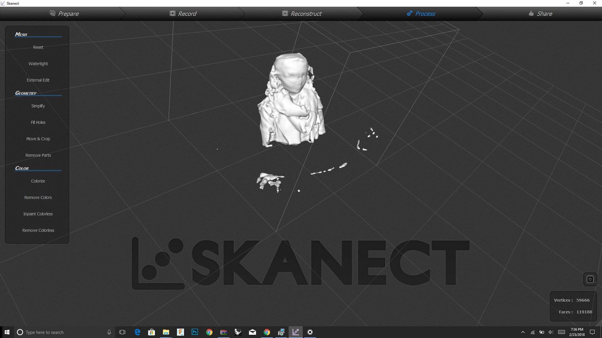 Skanect Kinect V2