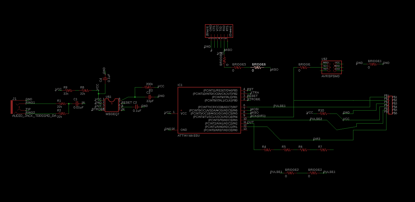 Final Project Audio Why Is My Msgeq7 Circuit Giving Arduino Analog Readings That Now This Done I Can Already Go Into The Board Tab Set Drc Tool Place Component A Start Autorouter