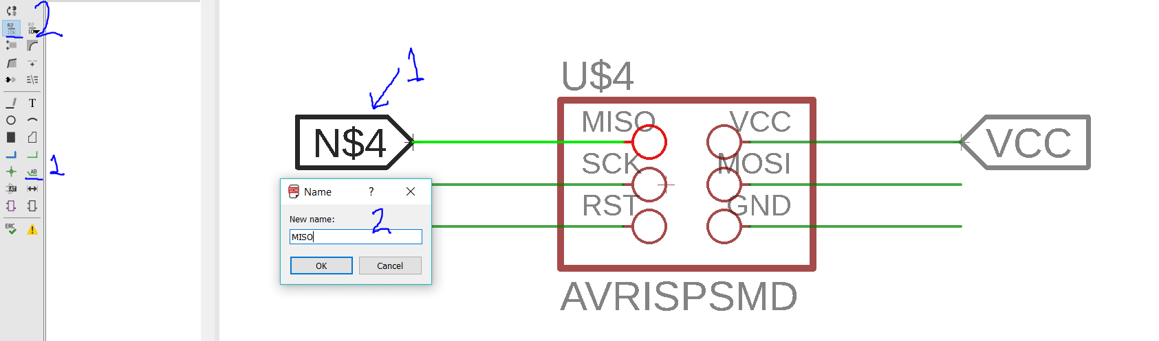 Week 6 Electronics Design Atmel Avr Isp Circuit Schematic The Full Connection Of Each Part Will Be Illustrated Separately Start With Programmer Avrisp And Ftdi Smdpin Headers