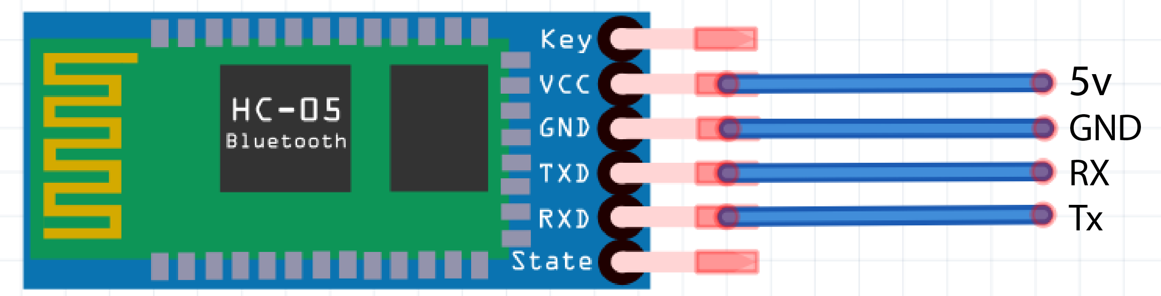 Interface And Application Programming Transmitterreceiverradiocontrolschematicdiagrampng Here We Are Connecting Blutooth Vcc Connect 5v Gndconnect Gnd Rxd Tx Becasue The Transmitter Should Be Talking To Receiver Not Another