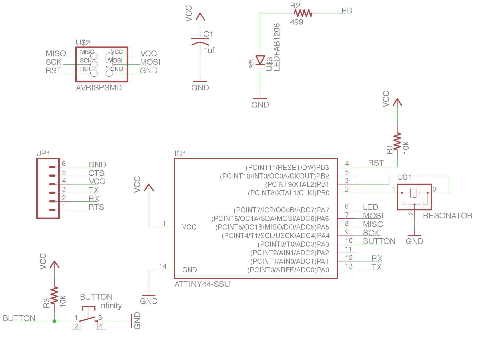 Week 7 Circuit Board Milling Is Performed On Our Protomat S63 When I Was All Done My Schematic Looked Like This