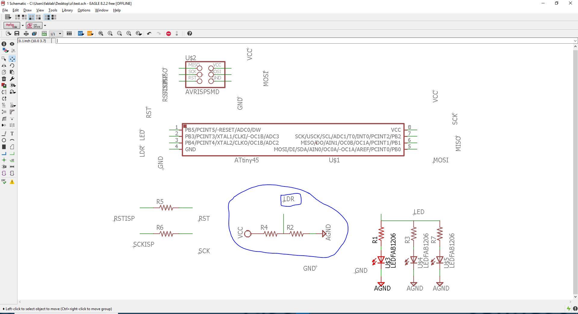 Fabacademy 2018 Nsabimana Ziadi Sensor Circuit Ldr Design And Board