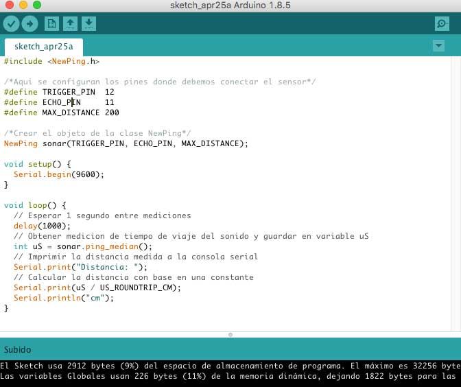 Arduino newping.h library download
