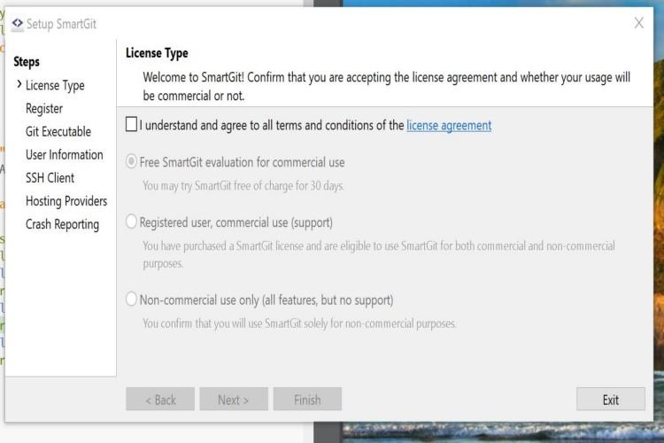 Git windows smartgit