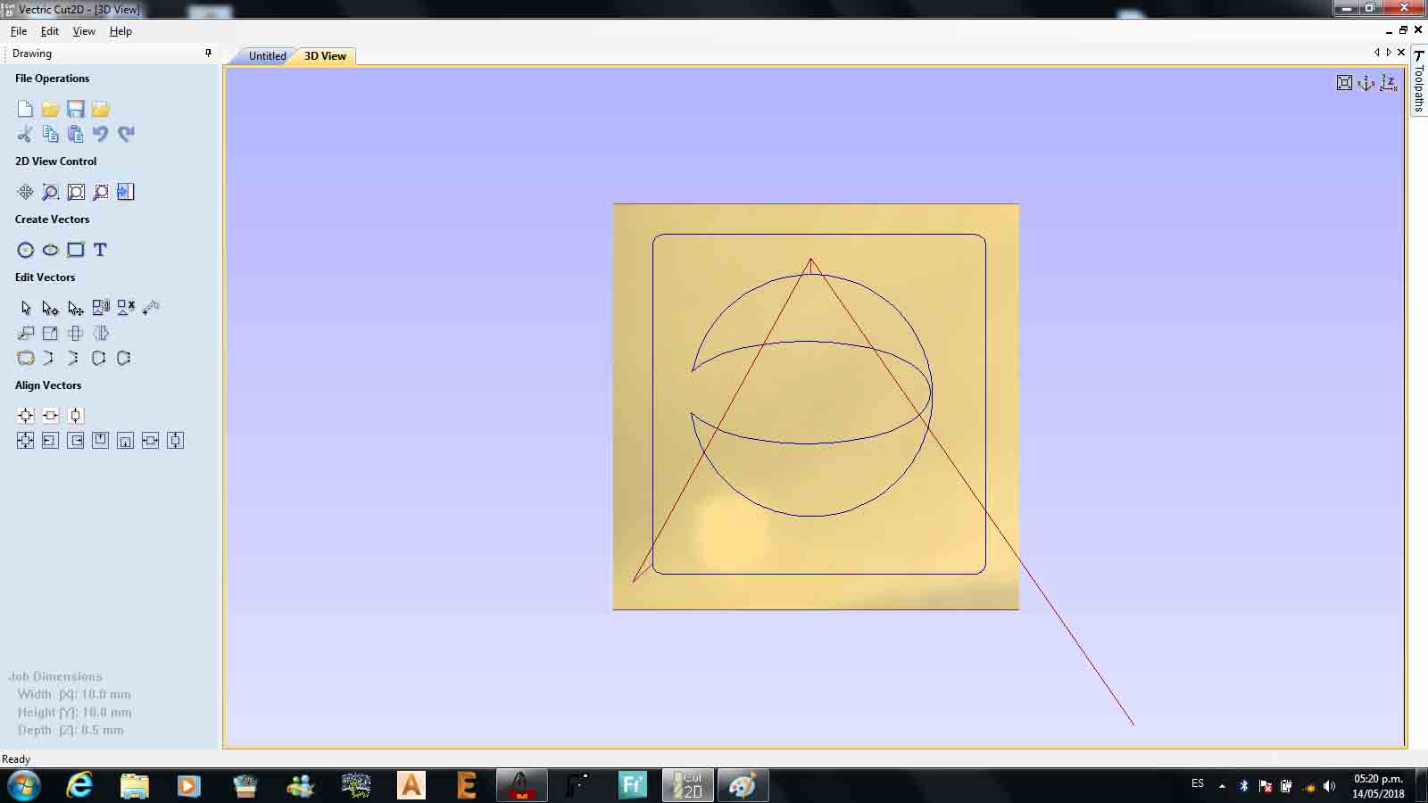 Fabricio Paredes Larroca Pi Cnc Projects Buy Alamode Controller Calculator Raspberry This Drawing Was Made On The Router Moving Axes Manually
