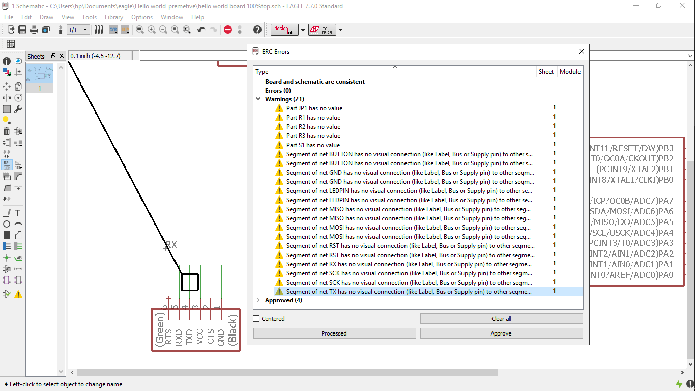 Chaitanya Gosavi Quite Universal Circuit Simulator Screenshot 2 About So Many Warnings But Finally Realised That These Were Not Errors Rather Which Displayed There No Lables For The Given Circuits