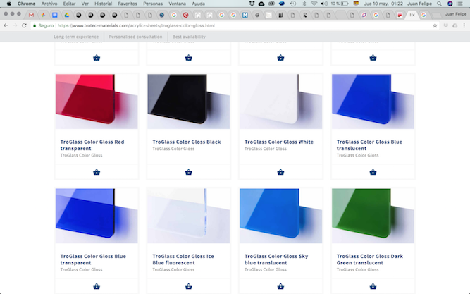 TroGlass Color Gloss Etching Materials Ice Blue Transparent