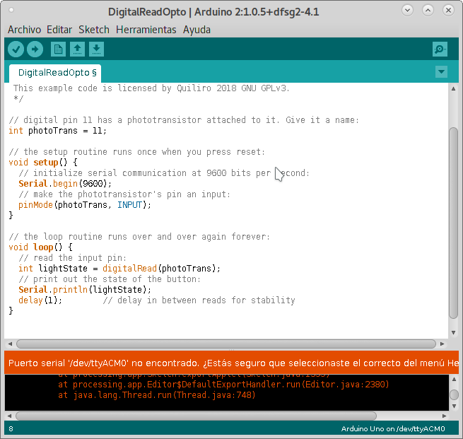 Quiliro's lesson: Embedded Programming
