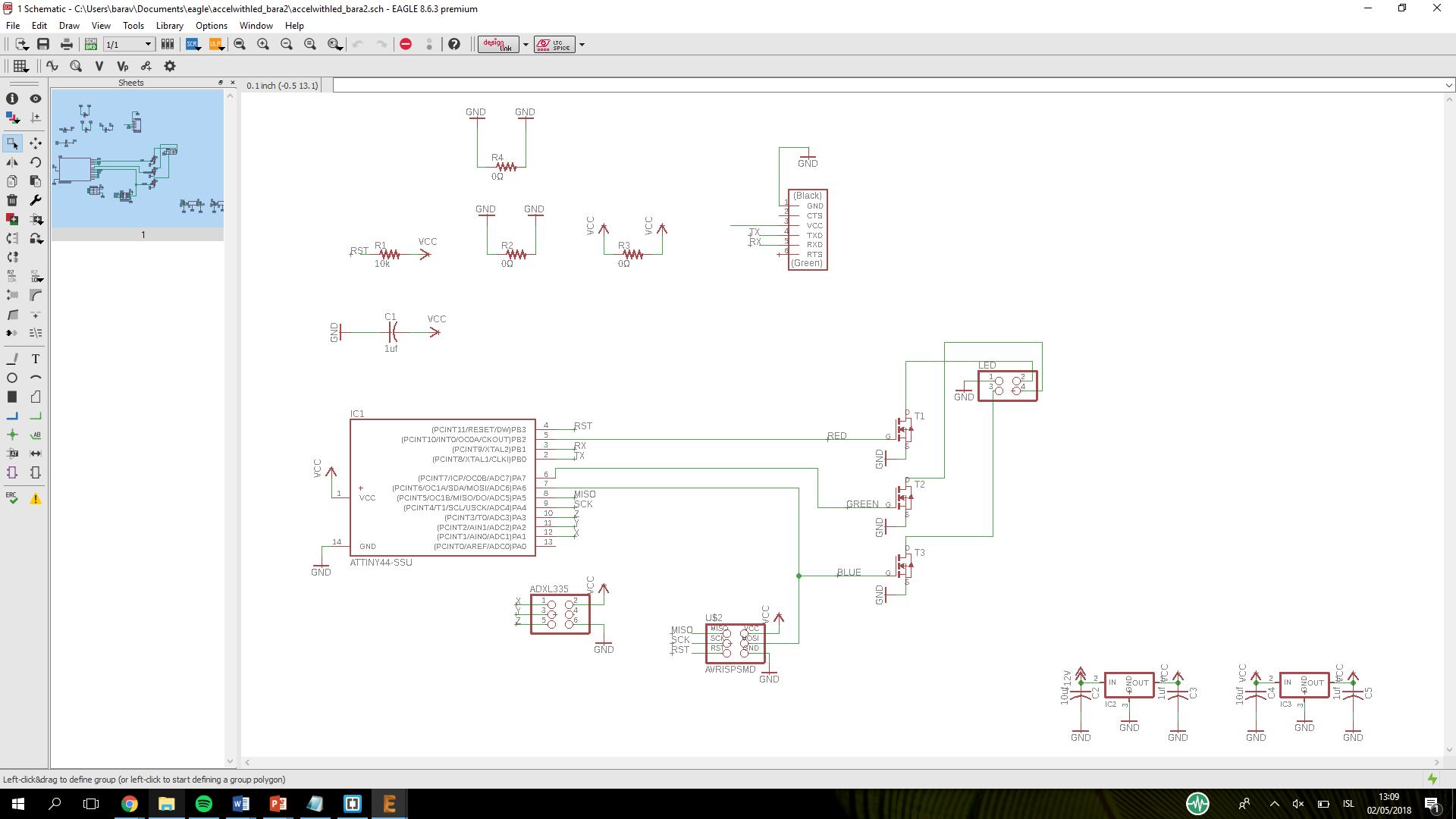 Week 12 Accelerometer Schematic Then Soldering Is Just Too Easy Now After Having Soldered The