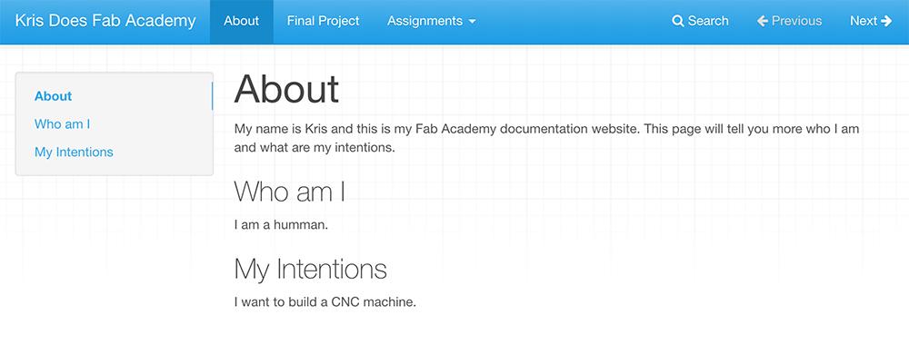Setting up MkDocs | FabAcademy - Tutorials