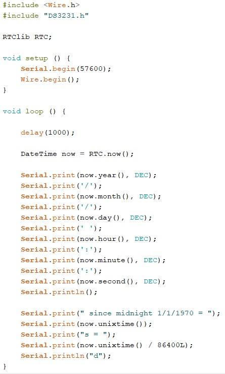 Arduino Unix Time
