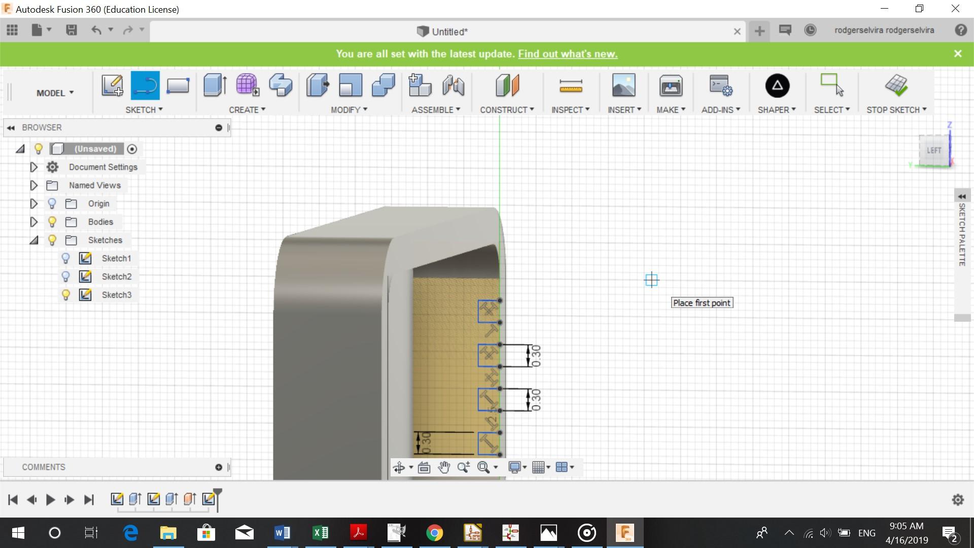 Week 3 Computer Aided design - Elvira Rodgers