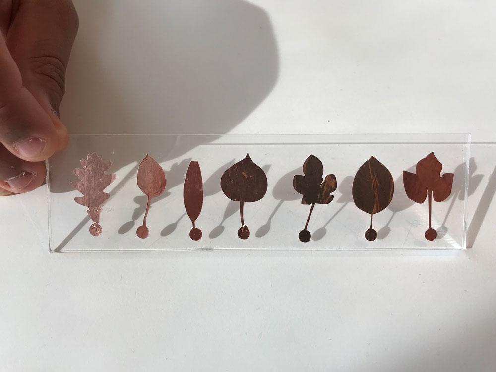 leaf shape touchpad