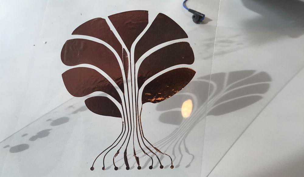 tree shape touchpad