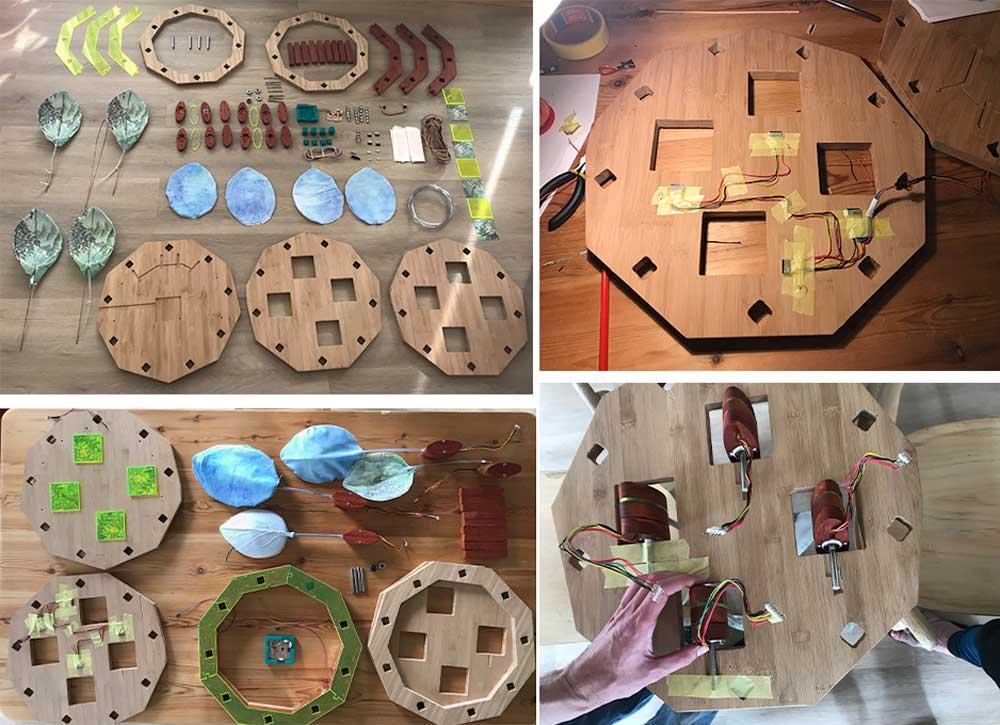 Assembling parts
