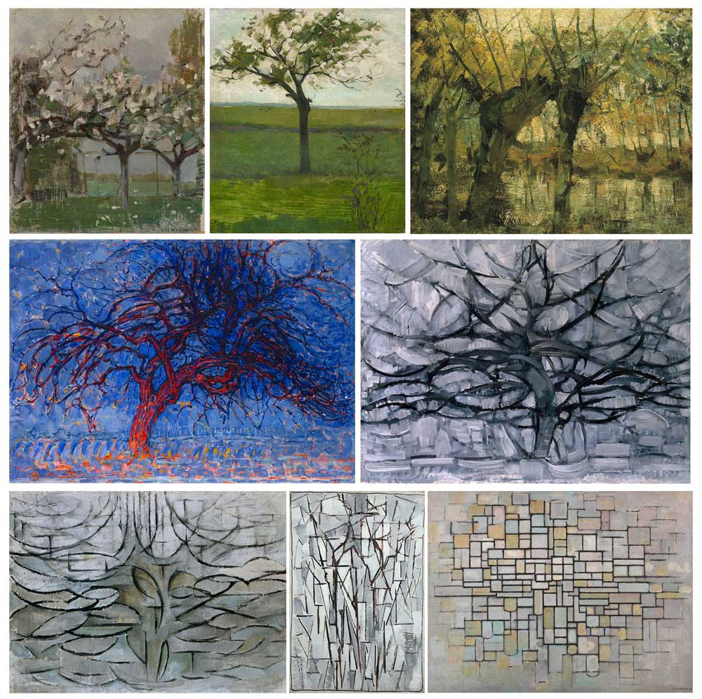 Mondriaan's trees