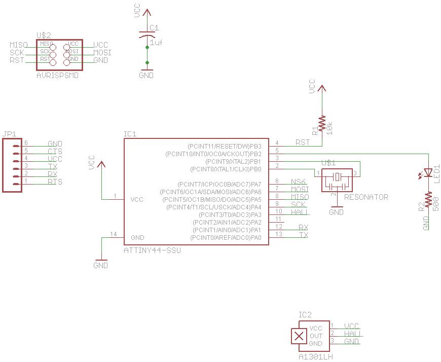 haxorganisationImages Attiny44 Speed Sensor Circuit Attiny44 Speed Sensor Circuit #1