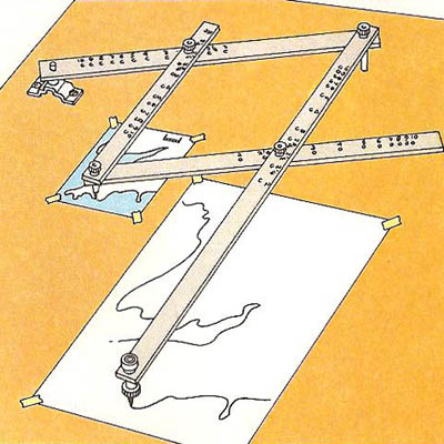 how to use a paper pantograph