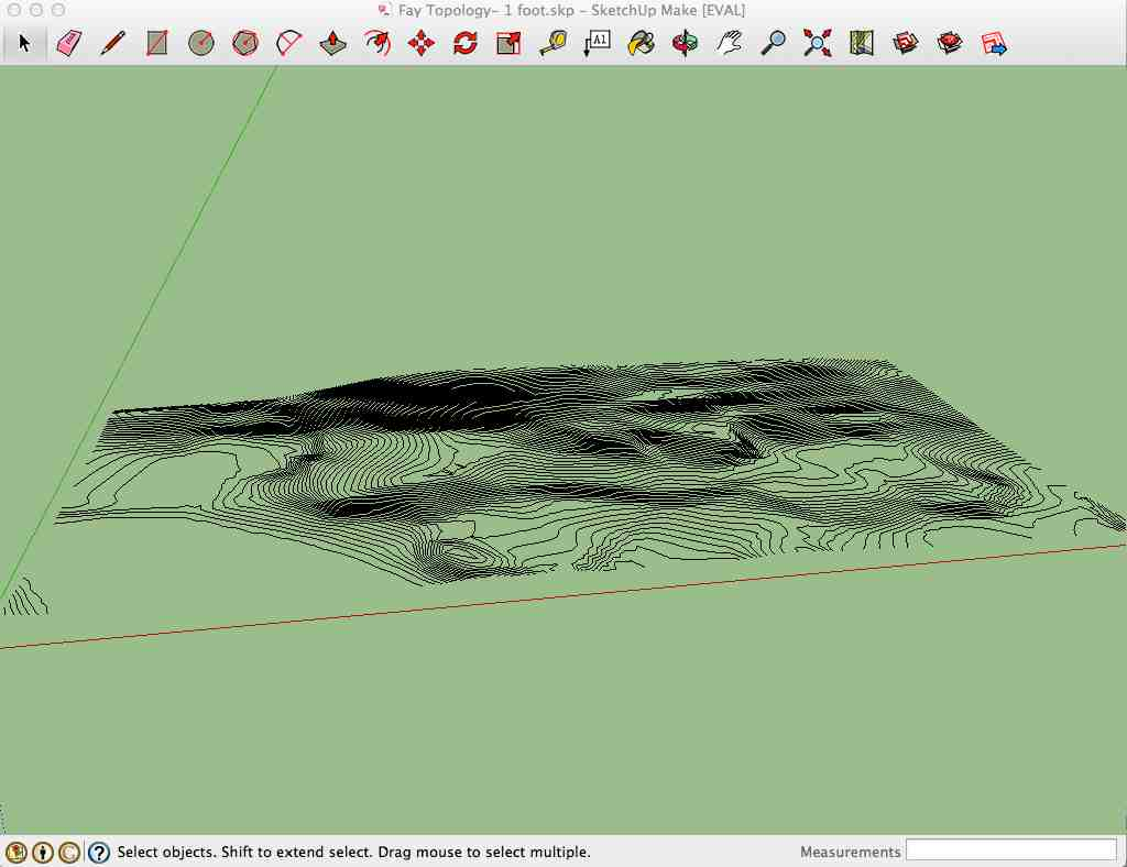 Imagery From Google Earth Sketchupi With Contours Peter Fearey Fabacademy  2014 Week 9 Molding And Casting Generate Contours And Dem