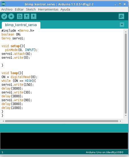 Arduino code servo motor impremedia
