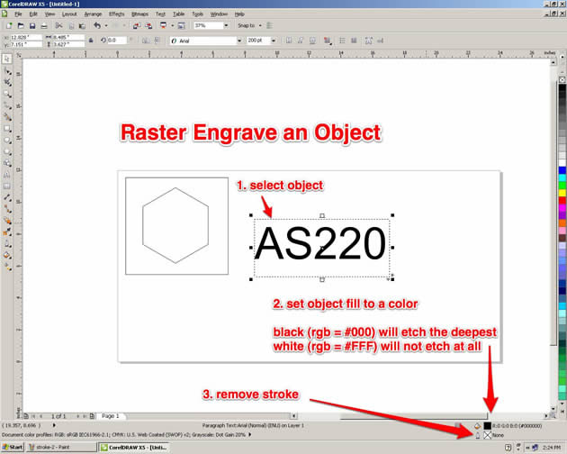 Corel Draw and the Laser Cutter