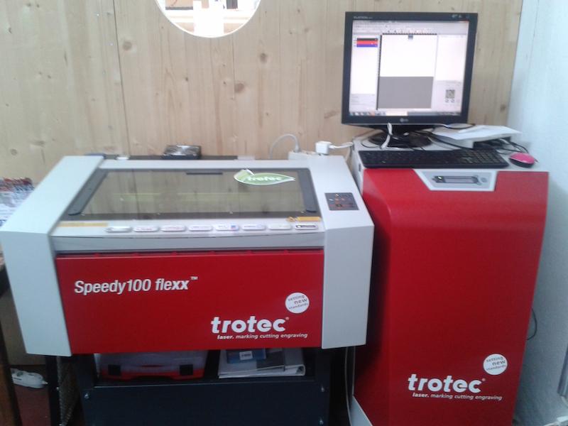 Laser Cutting a PCB with a CO2/Fiber Trotec laser cutter