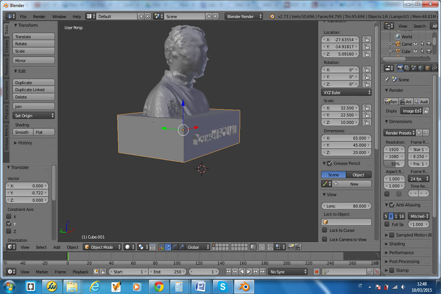 Fab Academy 2015 - Youssef BOUALI - Week 5 : 3D Scanning and Printing