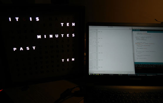 WordClock2 0 Update 4: Software and Leaking Light - Iain