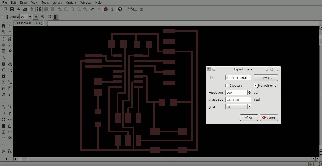 Fabacademy 2015 Standard Library 038 String Formatting For Avr After That I Imported The File In Inkscape Order To Add Some Text And A Red Square Useful Identify Layer Will Cut Board