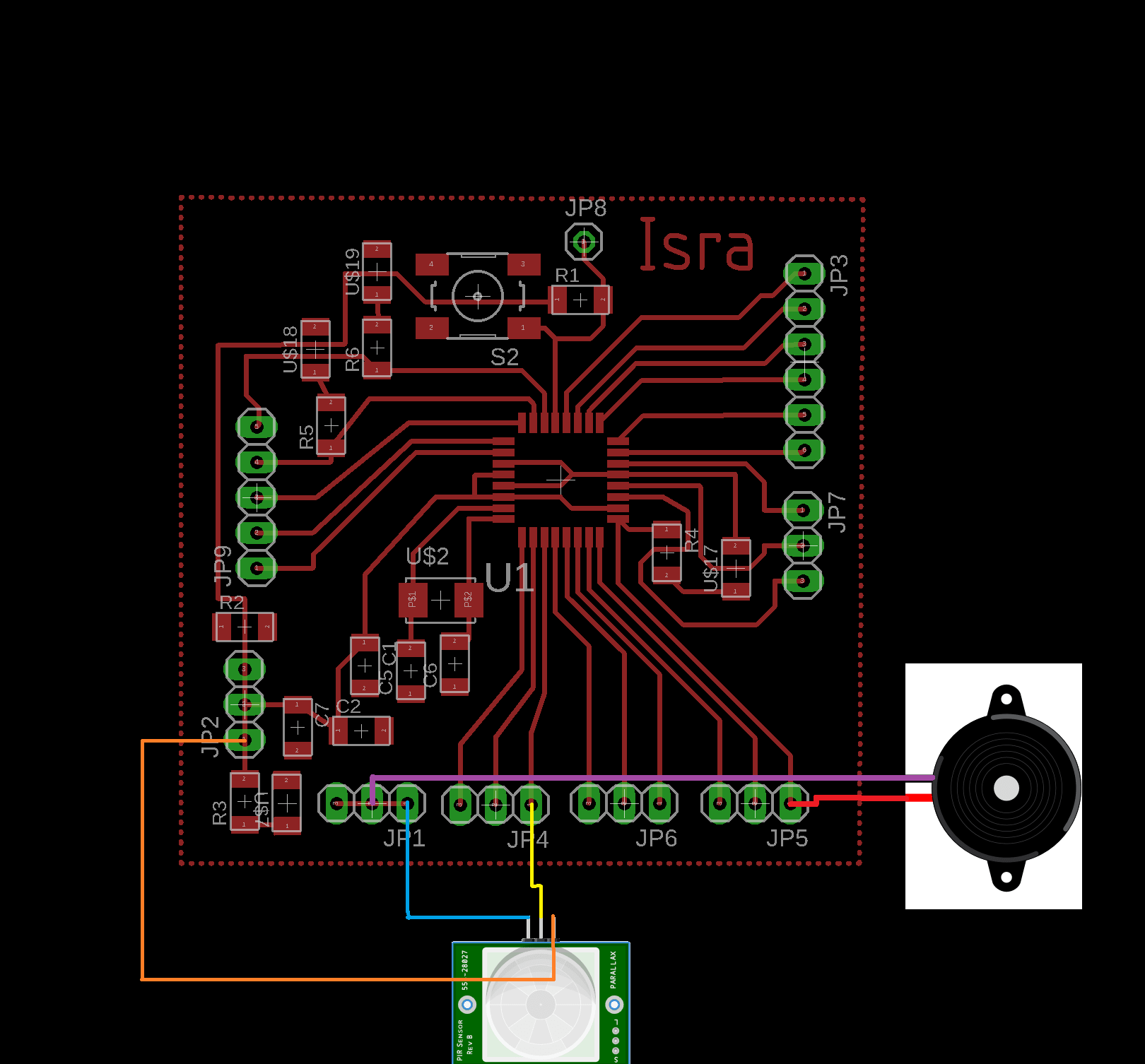Week 10 Input Devices Visit Page Of Simple Infrared Tx Rx Circuit In My Code I Connected A Buzzer With The Led To Give Me Sound Beside Light When Motion Is Detected Explanation Commented