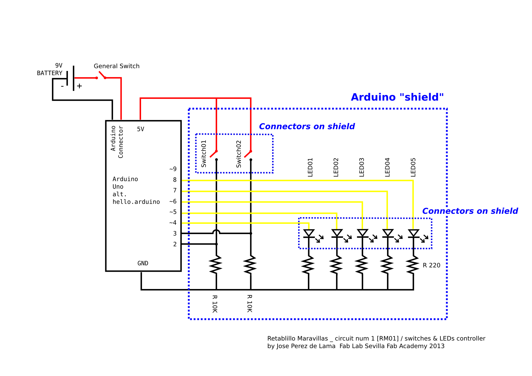 Extension Board Wiring Diagram 30 Images Control Switch Electronics Project Circuit For Diagr Thumbnail 22 20130810 Leds V2 Fab Academy 2013 Lab Sevilla Final At Cita